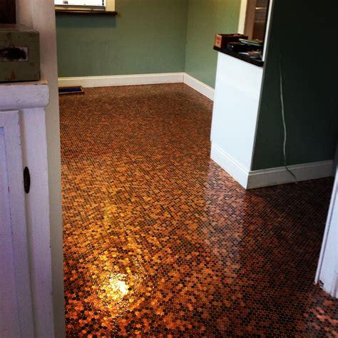 Kitchen Floor Of Pennies by Pennyfloor Diy Flooring This Is My New Kitchen Floor