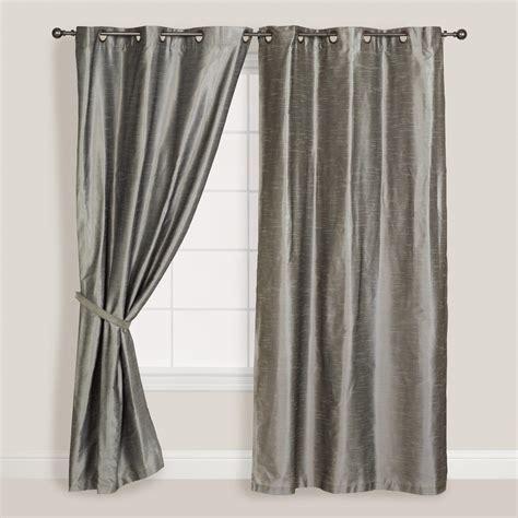 silver dupioni grommet top curtains set of 2 world market