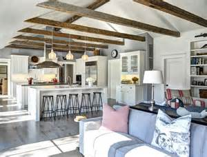 open floor plan kitchen and living room ranch cottage with transitional coastal interiors home bunch interior design ideas