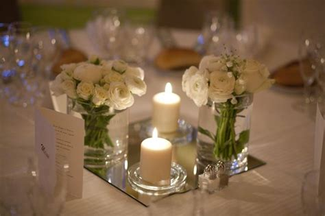centre de table avec miroir mariage centre de table flower centerpieces and tables