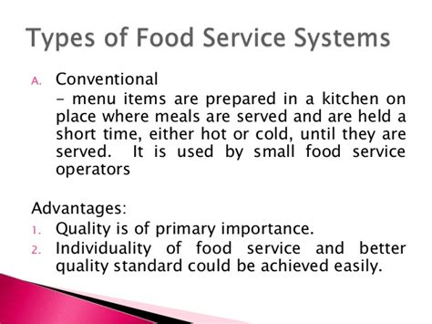 The Food Service System