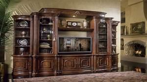 Bookcase Media Center Michael Amini Villagio Collection