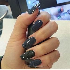 Charcoal, Grey, Nails