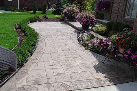 concrete front walkway designs sidewalk design ideas