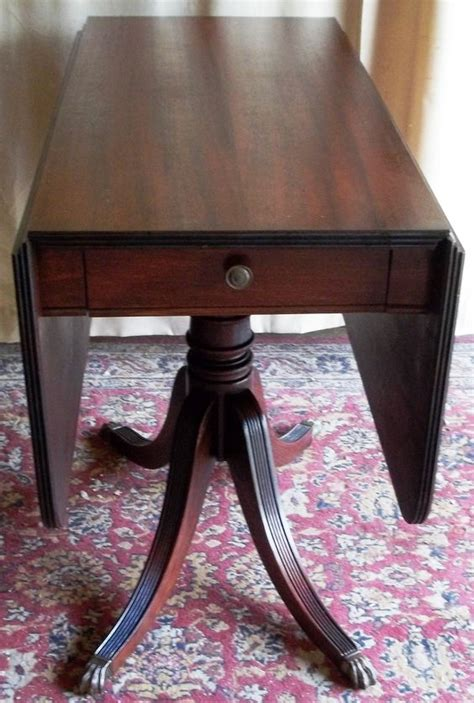 vintage claw foot table antique mahogany drop leaf table metal claw feet tips