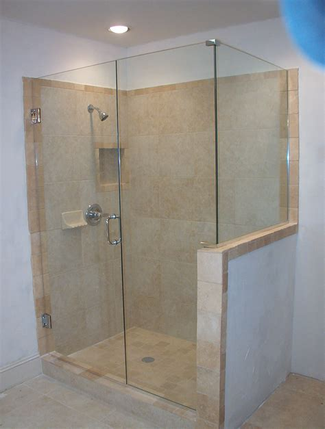 modern looking bathrooms frameless shower glass doors and enclosure for todays