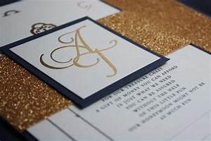 navy blue gold foil glitter wedding invite pocadot With navy blue wedding invitations australia