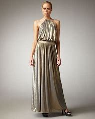 Silver Metallic Halter Dress