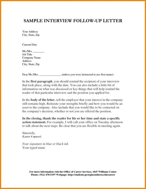 followup note resume cover letter