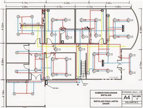 menggambar rancangan instalasi listrik  rumah