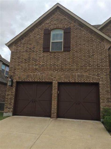 garage door shutter  column staining texas  stain
