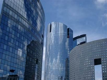 Paris Office Buildings Modern Architectural Background Close