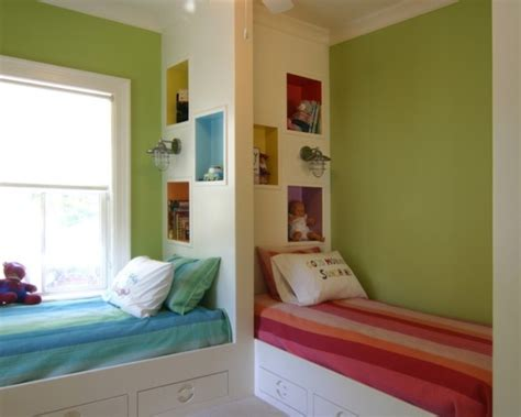 Blue And Pink Shared Kids' Rooms