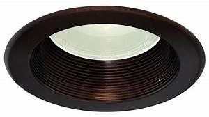 Shallow bronze halo inch recessed lighting trim baffle