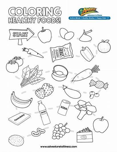 Healthy Coloring Nutrition Worksheets Pages Health Kindergarten