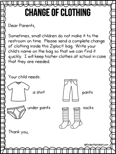 parent letter for change of clothing free from 919 | 6510839144fdedb5db205996f5a830ef parent orientation parent notes