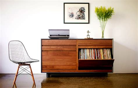 diy mid century modern tv console spin that vinyl modern record player setups