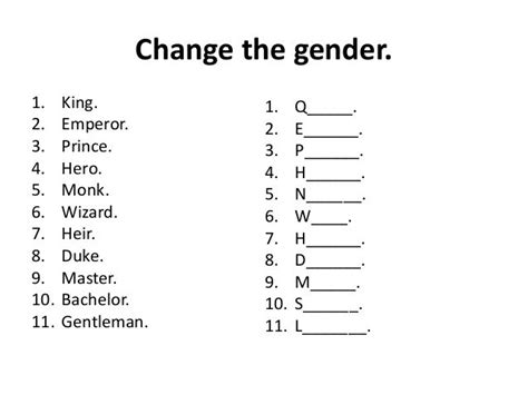 image result  gender nouns worksheets atividades