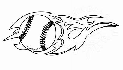 Baseball Clipart Flaming Coloring Webstockreview Coloringpage Eu