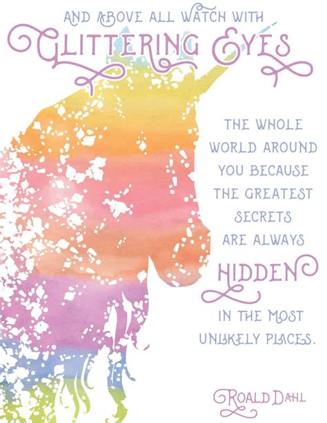 magical unicorn  printable wall art diy candy
