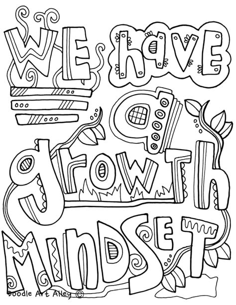 Classroom Coloring Pages Growth Mindset Coloring Pages Classroom Doodles