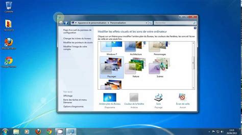 organiser bureau windows 7 cours informatique débutant partie 1 le bureau windows