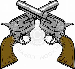 Two Pistols Crossed Clipart - Clipart Suggest