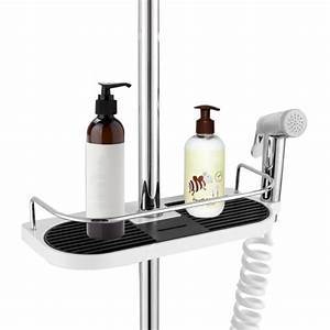 Multifunctional, Bathroom, Storage, Holder, Rack, Soap, Shampoo, Tray, Toilet, Shelf, Showerhead, Lifting