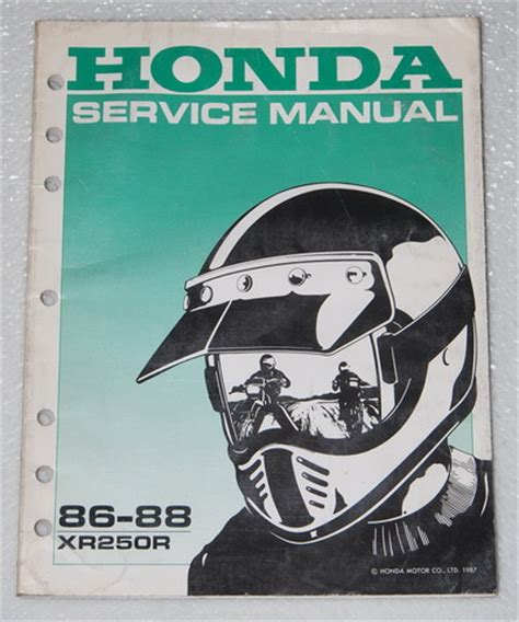 honda xrr factory service manual xr xr  oem shop repair ebay