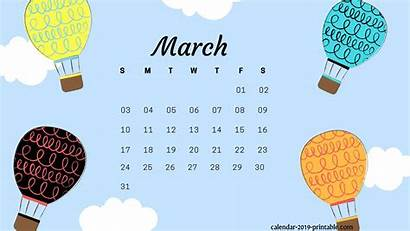 Calendar March Desktop Wallpapers Printable Background Laptop