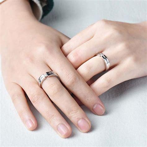 blue sweet couple rings cubic zirconia diamond wedding