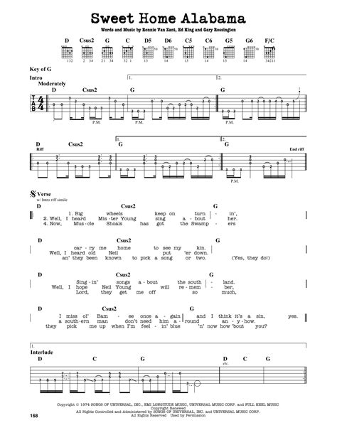 Awesome Sweet Home Alabama Chords Piano Ensign - Chord Sites ...