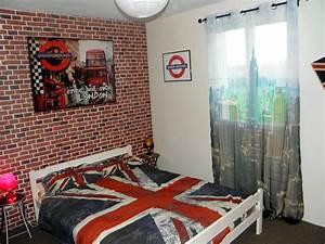 deco chambre sur londres With couleur mur bureau maison 15 deco maison theme moto