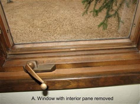 replacing glass   pella casement window