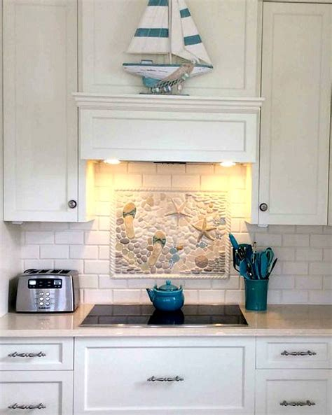 kitchen backsplash tile murals coastal kitchen backsplash ideas with tiles from