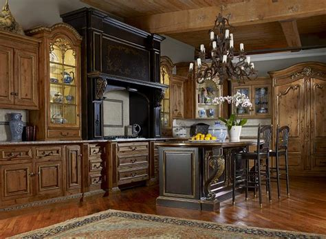 alder custom kitchen cabinetry offers rich rustic looks