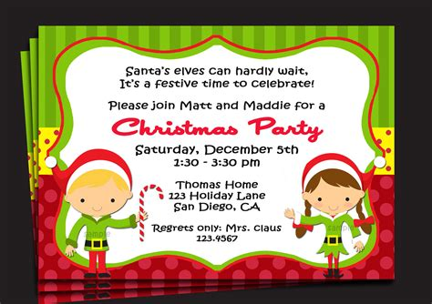 christmas party invitation invitation printable or printed with free