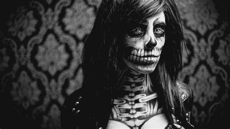 make up skelett skelett make up facepainting pusch