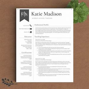 Teacher Resume Template for Word & Pages 1 3 Page Resume