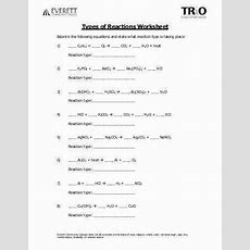 Types Of Chemical Reactions Worksheet Answers Homeschooldressagecom