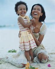 Liya Kebede and Daughter
