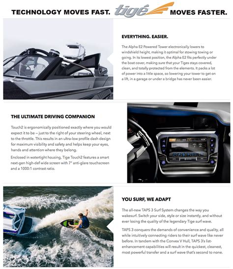 Tige Boats Employment by Tige Clearance Page