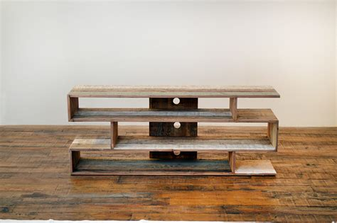 sumptuous reclaimed wood tv stand  living room