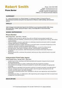 Special Skills And Abilities For Resume Phone Banker Resume Samples Qwikresume