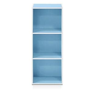 Light Blue Bookcase by Furinno White And Light Blue 5 Tier Reversible Color Open