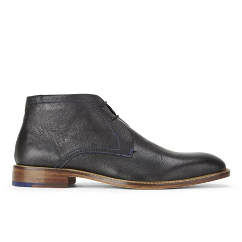 ted baker s tordsi 2 leather chukka boots black free uk delivery allsole