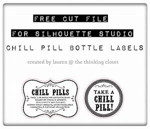 chill pills gag gift free printable labels the With chill pills label printable