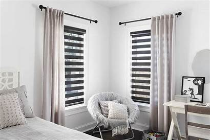 Blinds Drapery Pleat Tailored Combination