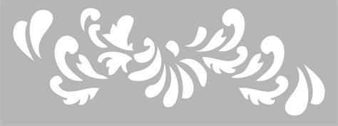 pochoir frise arabesque 15x40cm tout 224 creer