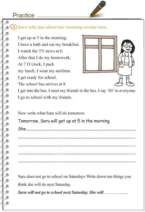 grade 3 grammar lesson 11 verbs the simple future tense